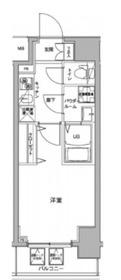 ジェノヴィア川崎駅グリーンヴェール8階Fの間取り画像