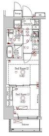 ラフィスタ川崎Ⅵ4階Fの間取り画像