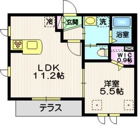 メゾンHide1階Fの間取り画像