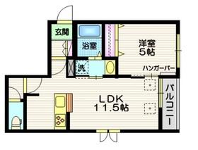 GRANDE NINE2階Fの間取り画像
