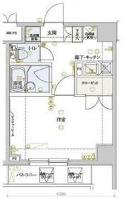 ヴェルト横浜ブライトコート5階Fの間取り画像