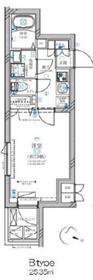 ディアレイシャス溝の口(ディアレイシャスミゾノクチ)地下2階Fの間取り画像