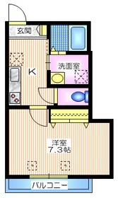 メゾンY・S3階Fの間取り画像