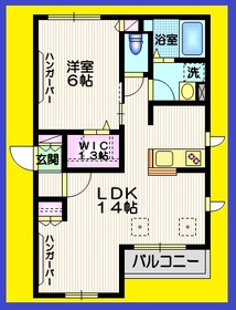 ソウルメイト富士見台2階Fの間取り画像