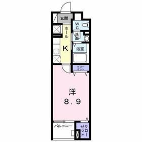 京王多摩センター駅 徒歩28分4階Fの間取り画像