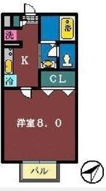 オーキッド2階Fの間取り画像