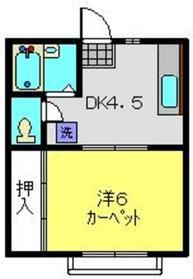 ウッディー62階Fの間取り画像