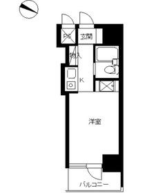 スカイコート西川口第510階Fの間取り画像