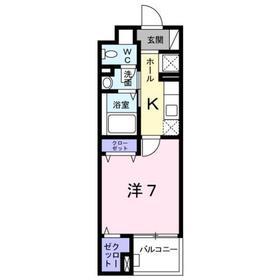 京王堀之内駅 バス10分「富士見橋」徒歩6分5階Fの間取り画像