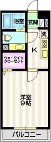 壱番館浅田1階Fの間取り画像