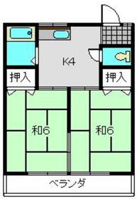 元住吉駅 徒歩26分2階Fの間取り画像