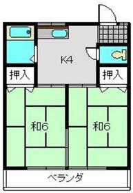 武蔵新城駅 徒歩25分2階Fの間取り画像
