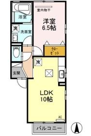 リビングタウンSAKURA Ⅰ1階Fの間取り画像