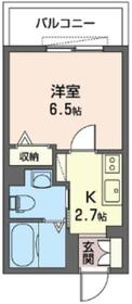 洋室:6.5J、キッチン:2.7J