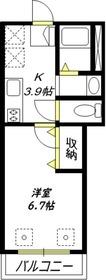 ヘーベルメゾン上池台2階Fの間取り画像