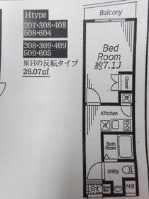 ビバリーホームズ下赤塚1階Fの間取り画像