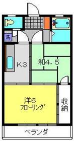 大谷マンション4階Fの間取り画像