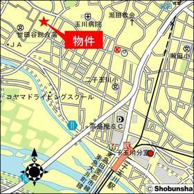 世田谷区岡本2丁目戸建案内図