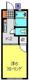 ライトハイム1階Fの間取り画像
