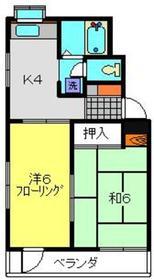 メゾン吉野2階Fの間取り画像