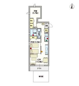 (シニア限定)ヘーベルVillage椎名町1階Fの間取り画像