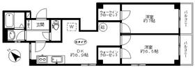 鴎川寮2階Fの間取り画像