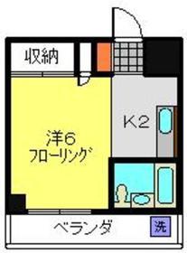 日吉駅 徒歩15分3階Fの間取り画像