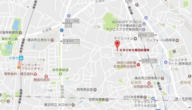 グロース横浜妙蓮寺案内図