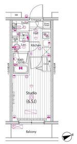 グランド・ガーラ横浜9階Fの間取り画像