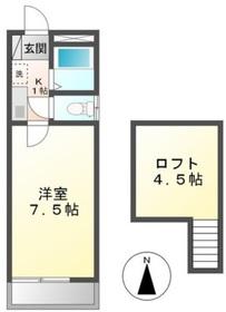 クレセントハイツTOKYU1階Fの間取り画像