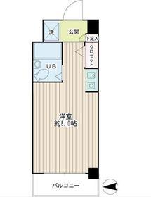 RKB242階Fの間取り画像