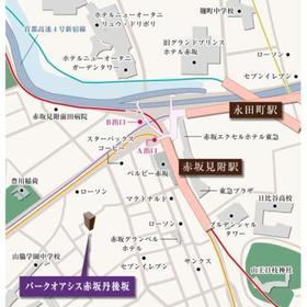 パークオアシス赤坂丹後坂案内図