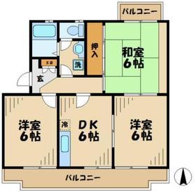 パレシャローム2階Fの間取り画像