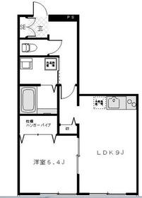三ッ沢上町駅 徒歩29分2階Fの間取り画像