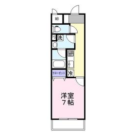 グランデ・マレ1階Fの間取り画像
