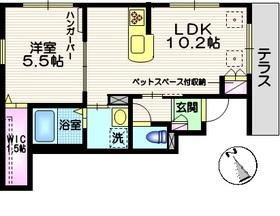 カーサ ピッコラ1階Fの間取り画像
