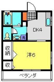 上星川駅 徒歩16分2階Fの間取り画像
