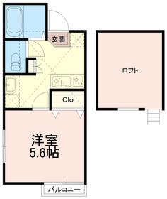 アパートメントノア2階Fの間取り画像