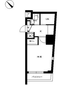スカイコート三田慶大前壱番館7階Fの間取り画像