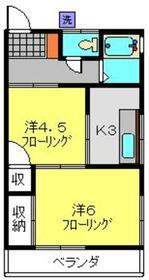 小柳アパート2階Fの間取り画像
