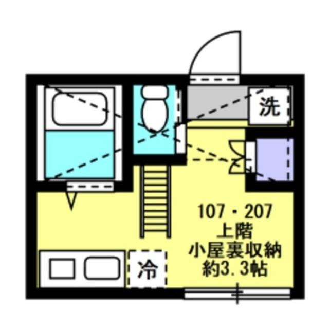 洋室4帖 小屋裏収納約3.3帖