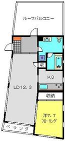 エスキナ4階Fの間取り画像