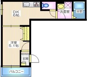 仮称 小机町メゾン1階Fの間取り画像