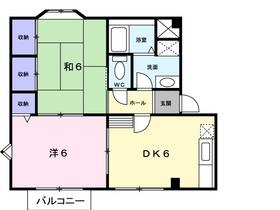 プレジール1階Fの間取り画像