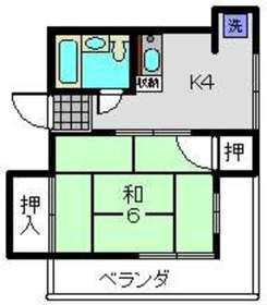 斉藤ビル2階Fの間取り画像