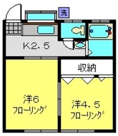 星川駅 徒歩29分2階Fの間取り画像