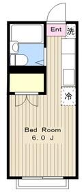 エステート京塚2階Fの間取り画像