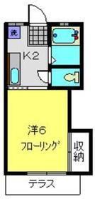フィオレ1階Fの間取り画像
