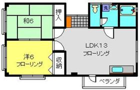 久保田ハイツ3階Fの間取り画像