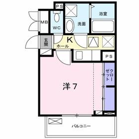 アイヴィレッジⅢ1階Fの間取り画像